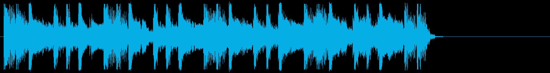 エレキギター・ストンプ・クラップジングルの再生済みの波形