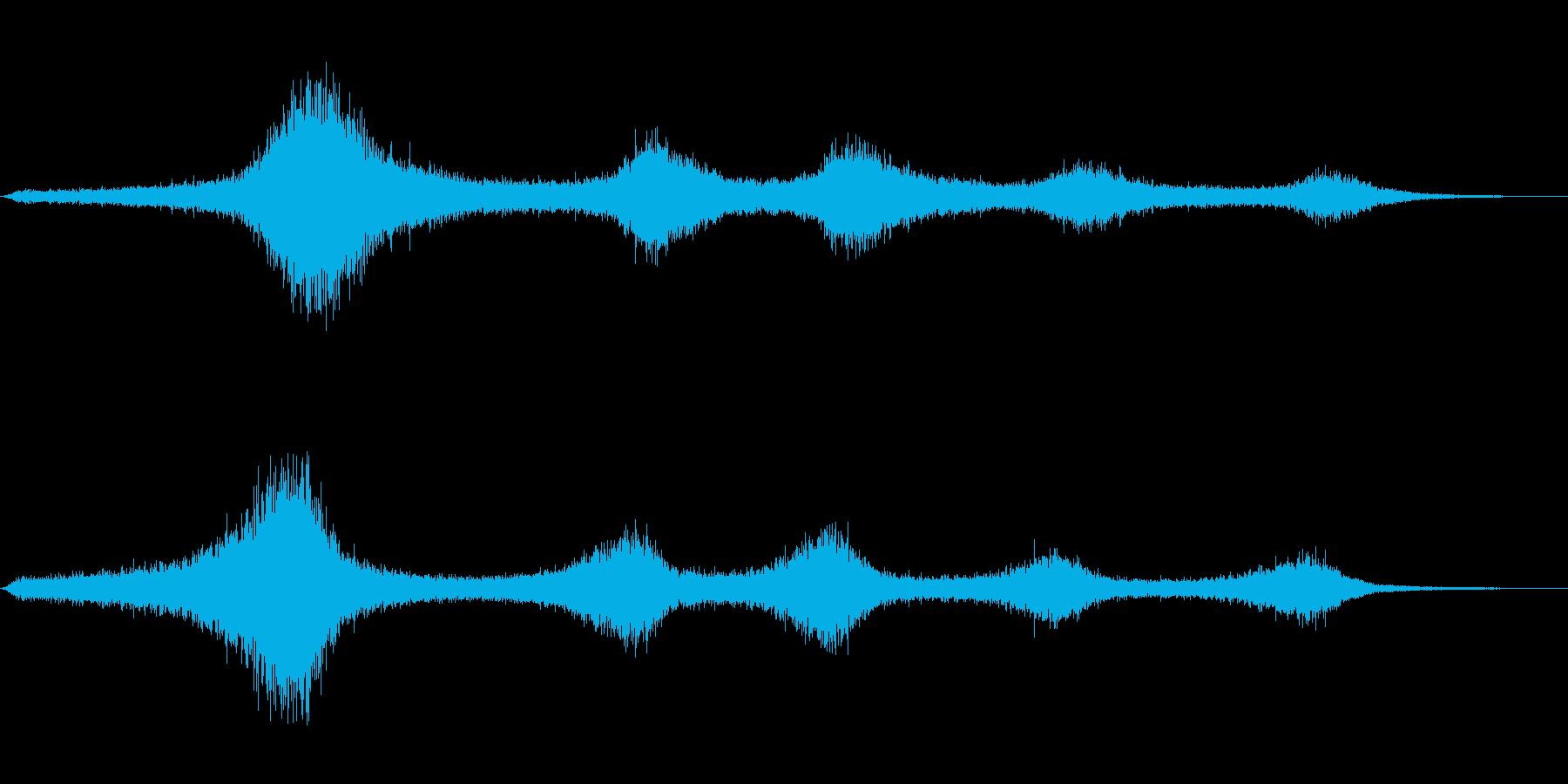 【生録音】 早朝の街 交通 環境音 28の再生済みの波形
