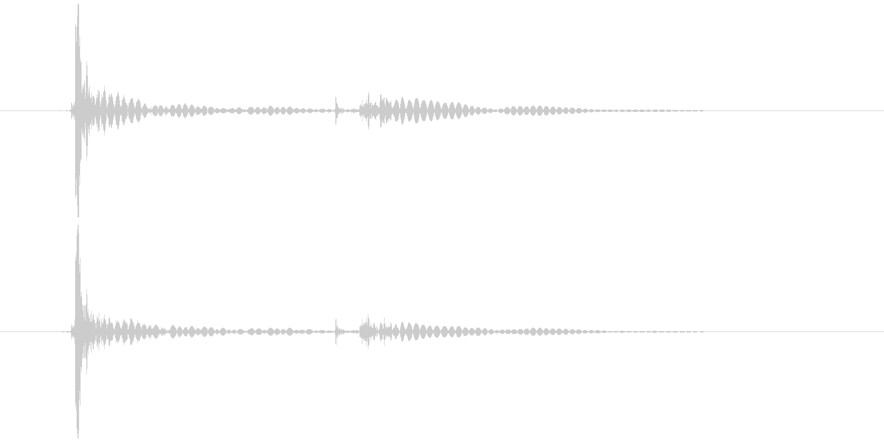 キーボード 一打C 文字キー風 (生音)の未再生の波形