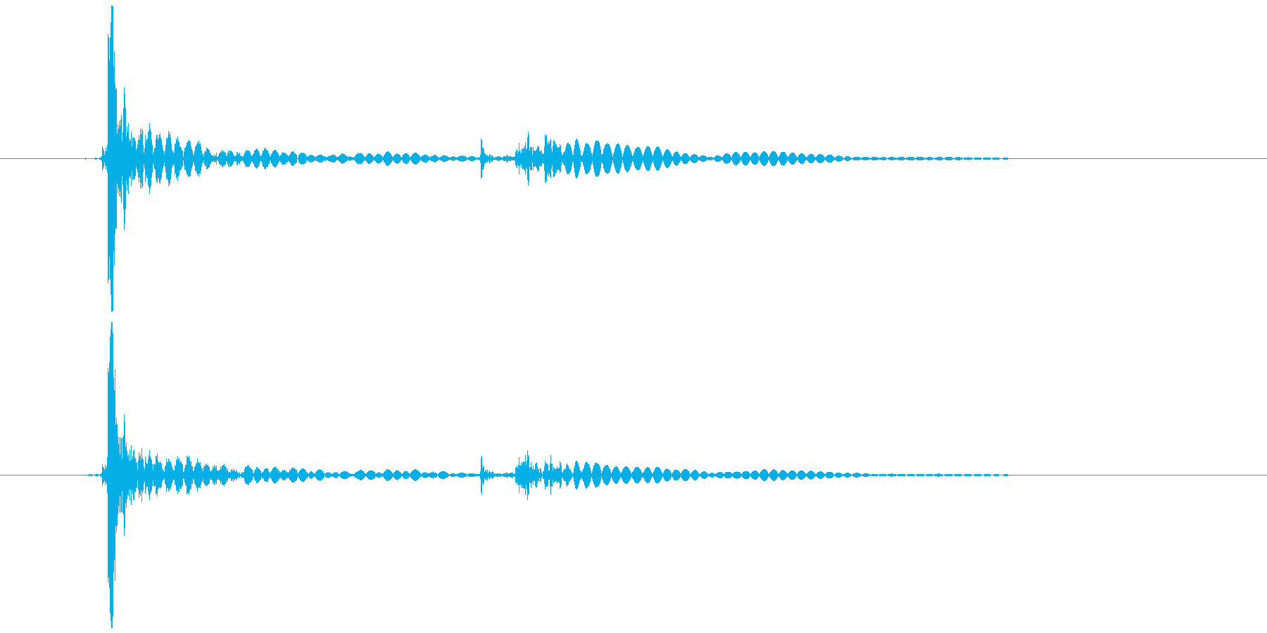 キーボード 一打C 文字キー風 (生音)の再生済みの波形