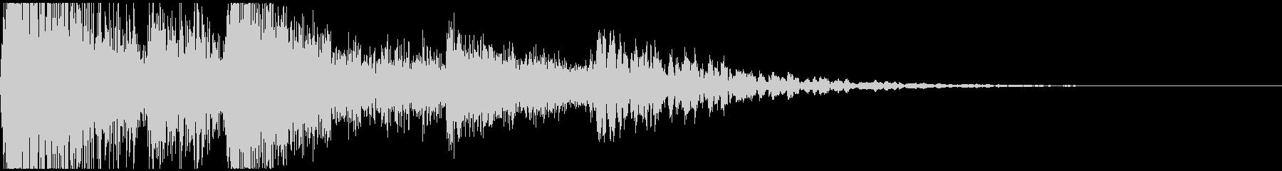 シネマティックなファンファーレの未再生の波形