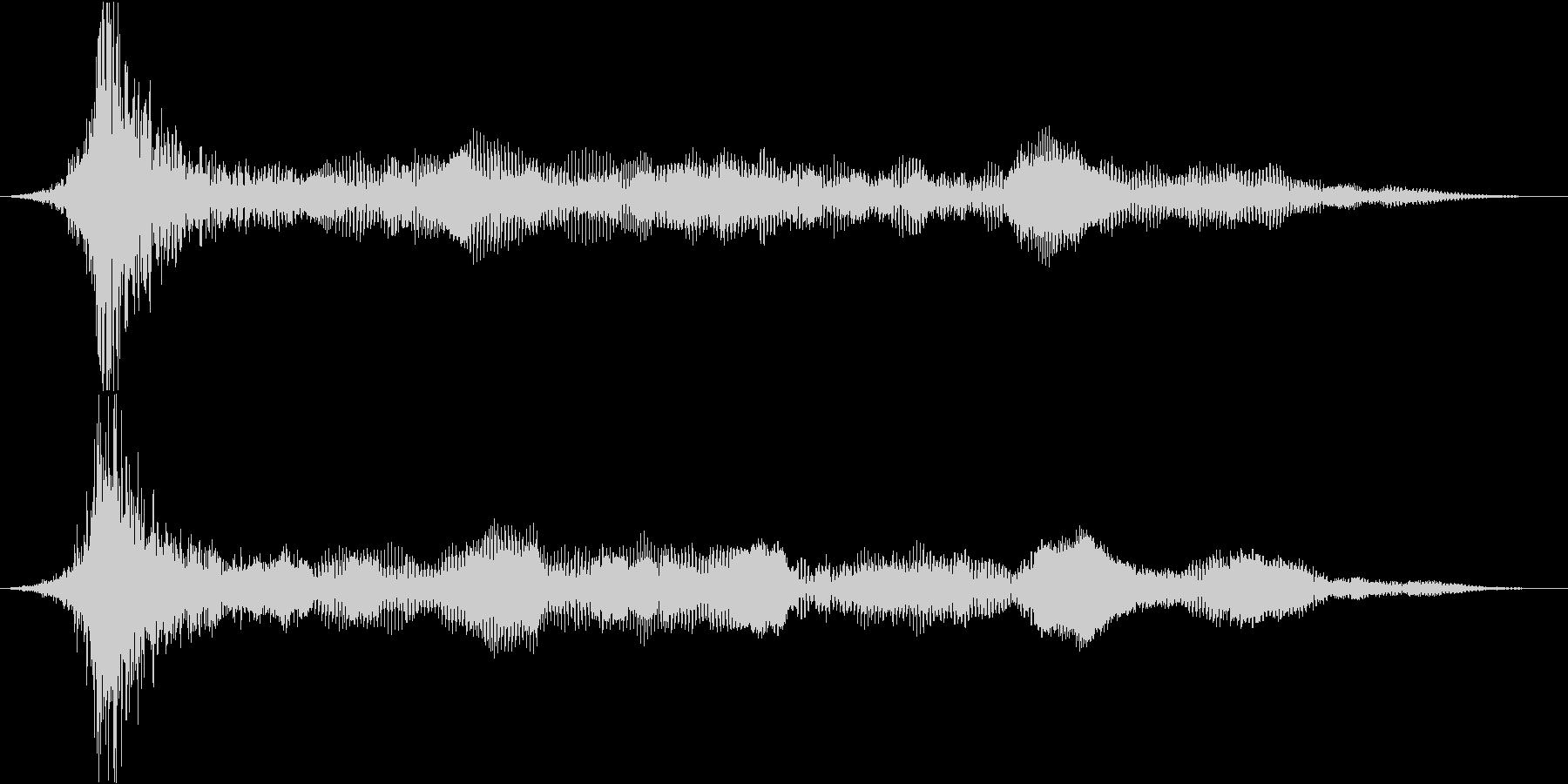 衝撃 ドローンインパクト01の未再生の波形