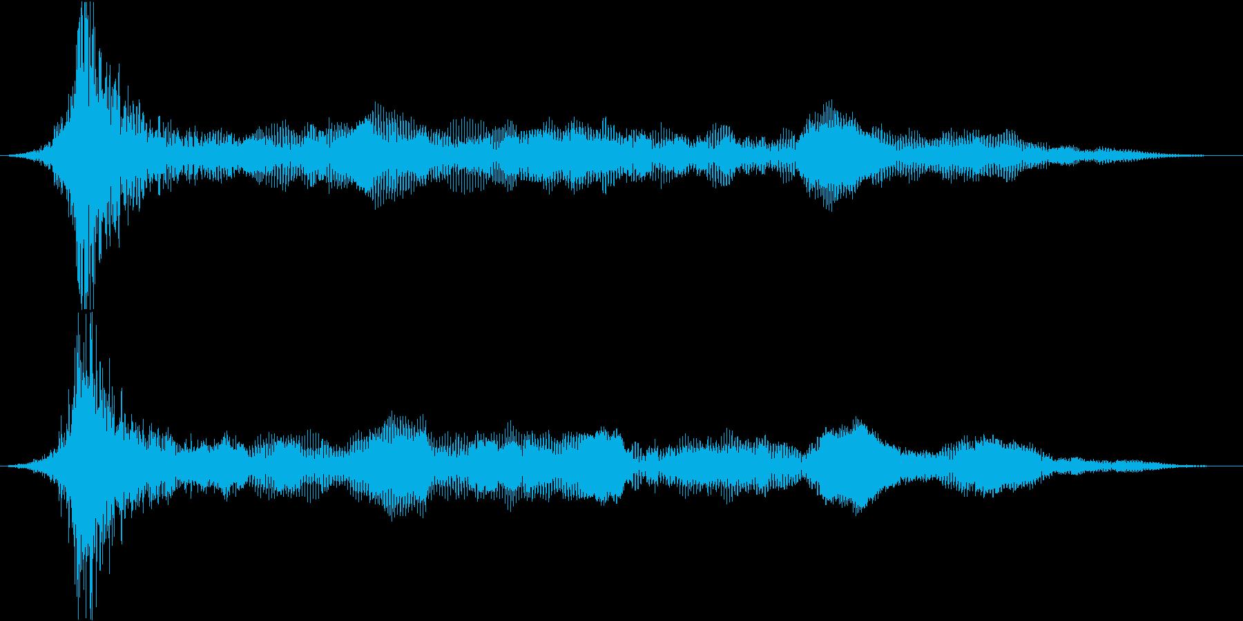衝撃 ドローンインパクト01の再生済みの波形