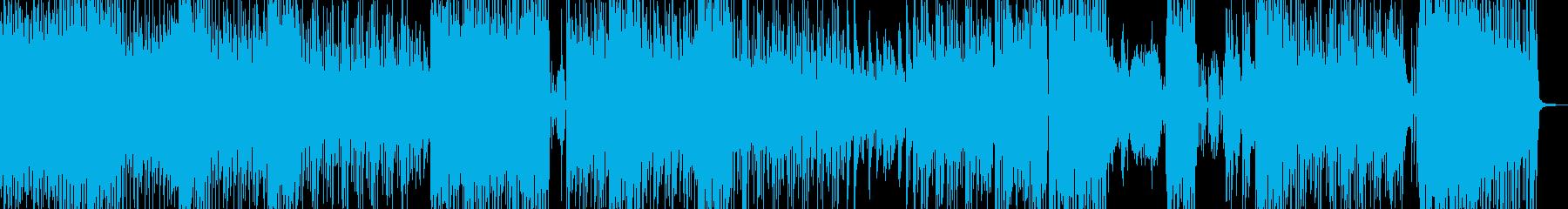高揚感・サイバーコミカルなテクノポップの再生済みの波形