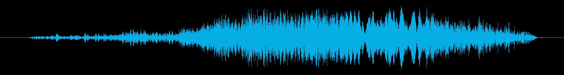 テールアウトの再生済みの波形