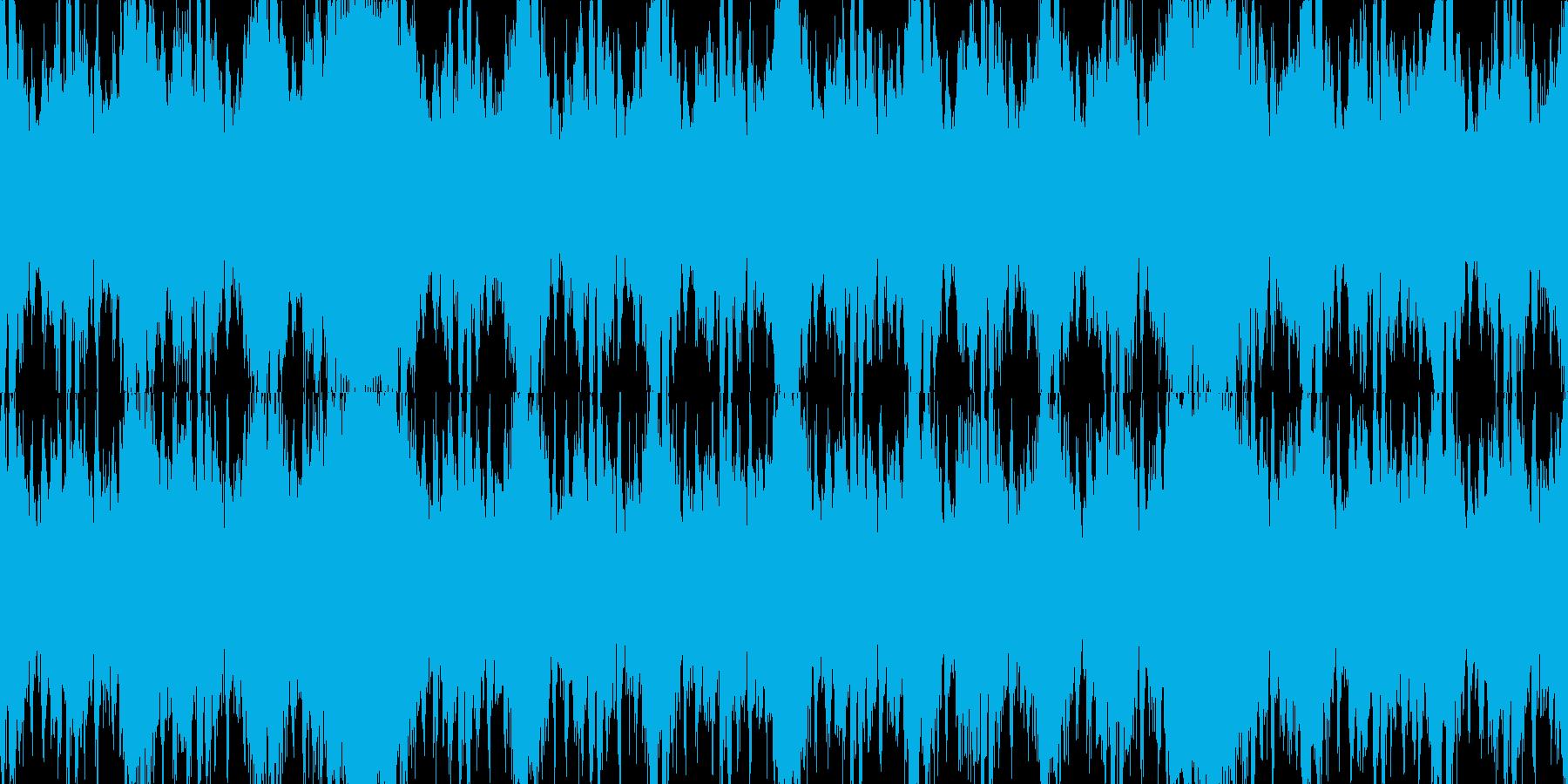 緊迫のバトル系オーケストラ ループ素材の再生済みの波形