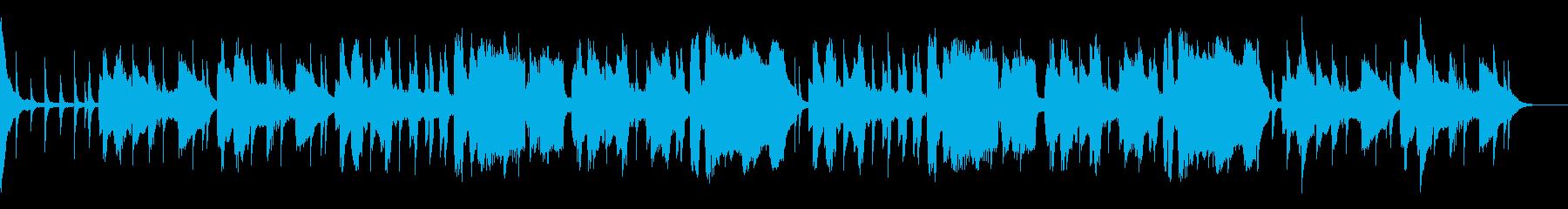 ピンクの豹のようなミステリー風楽曲の再生済みの波形