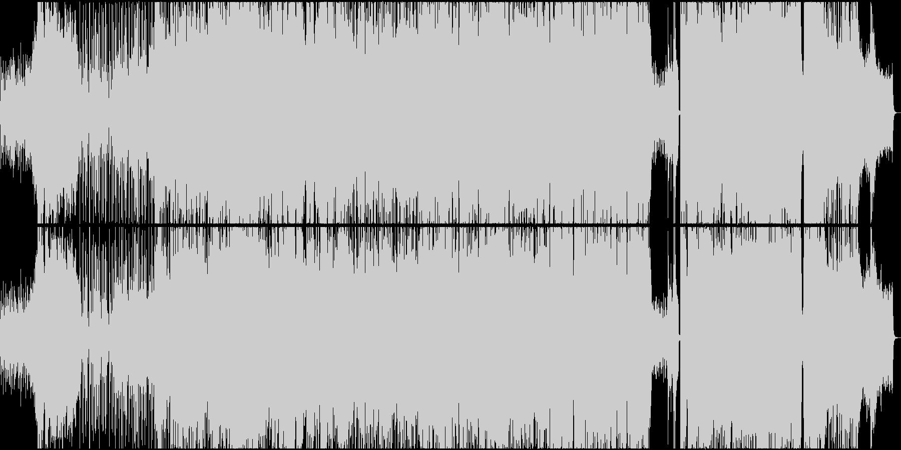 歩 バックトラックの未再生の波形