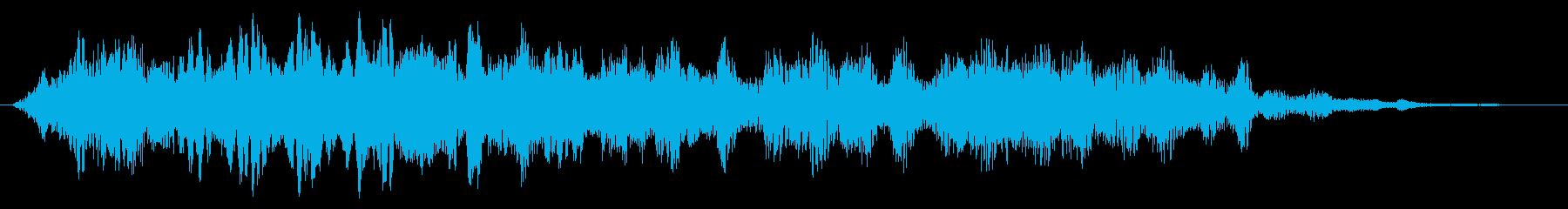 怖い音 怨念 呪い 唸り声 ホラーノイズの再生済みの波形