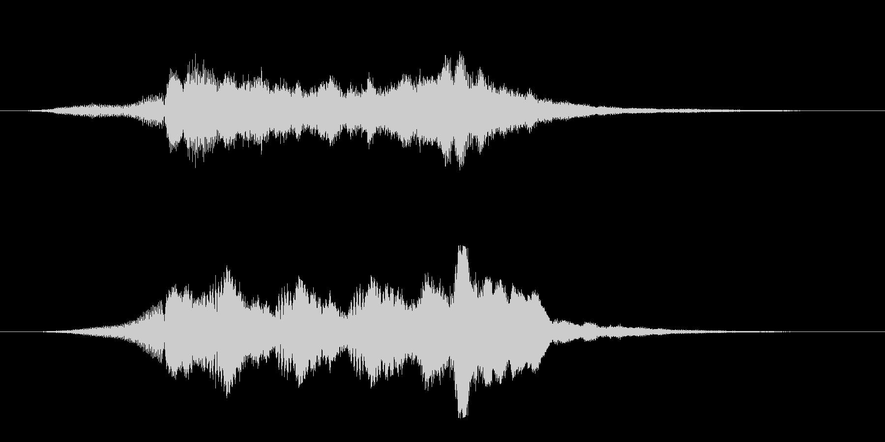 透き通った美しい映像オープニングロゴの未再生の波形