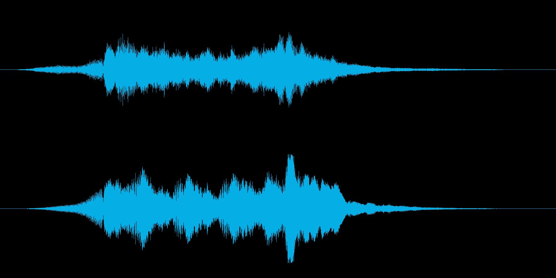 透き通った美しい映像オープニングロゴの再生済みの波形