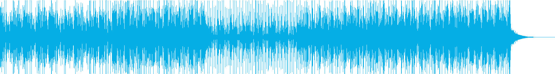 カホンを使用したエレクトロファンクビートの再生済みの波形
