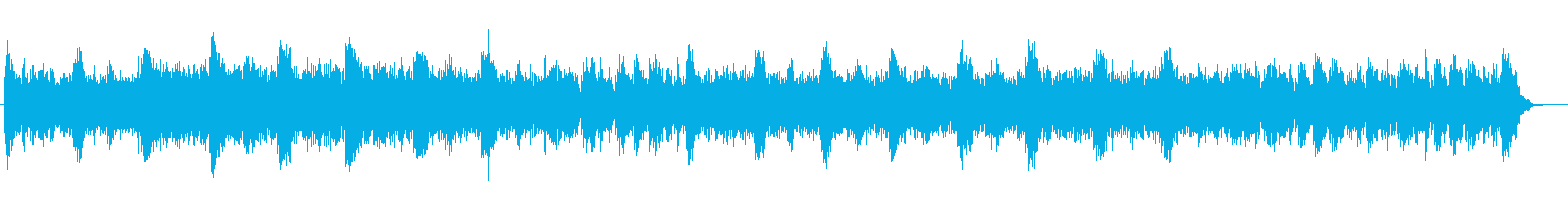 神秘的で美しい発車メロディー風の楽曲の再生済みの波形