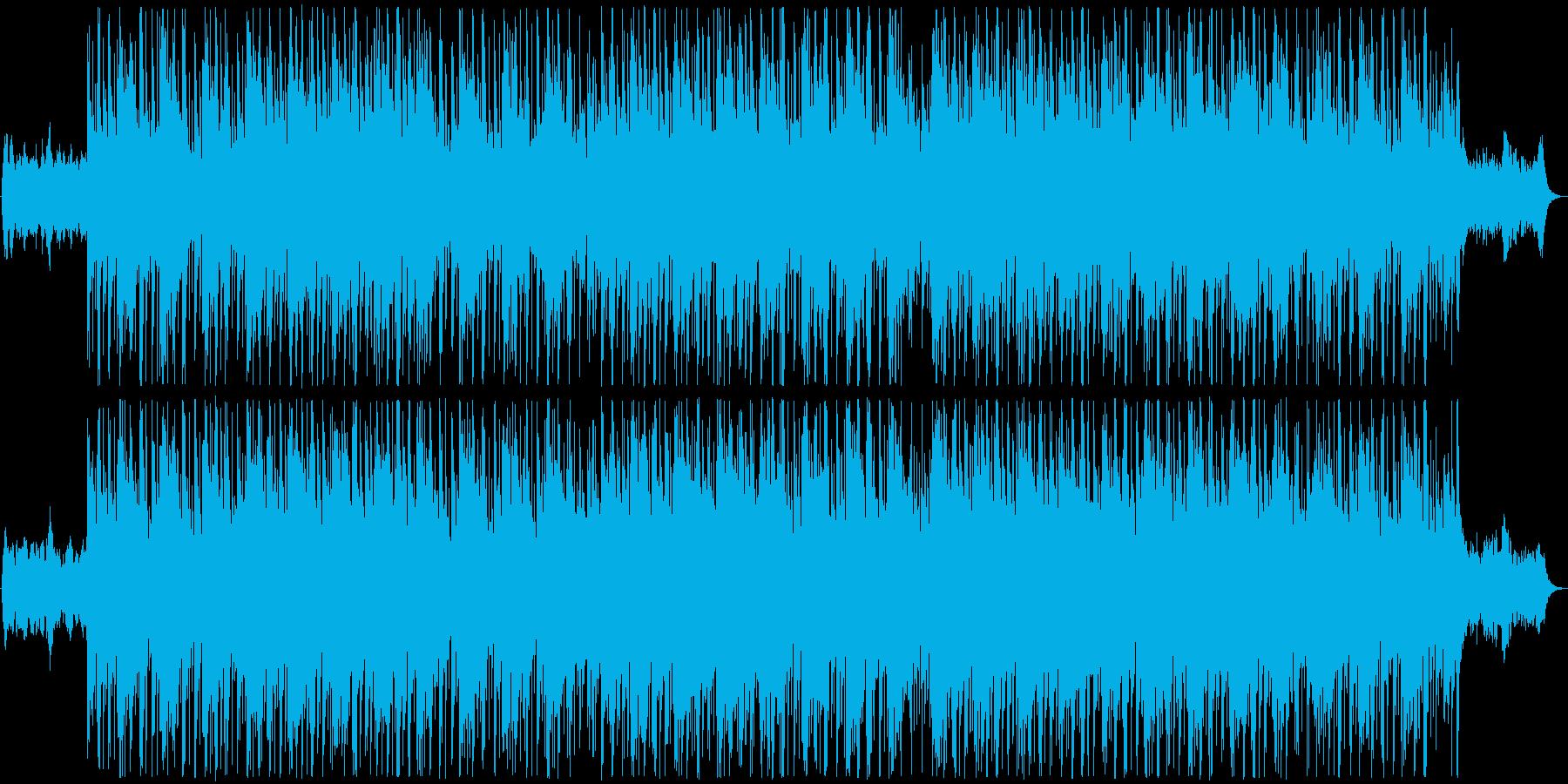 ミステリアスで緊迫感のあるBGMの再生済みの波形