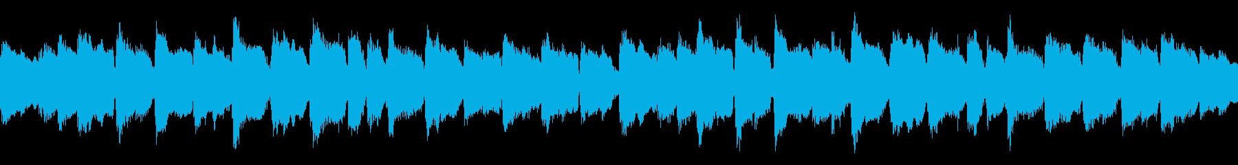 子守唄の様な弦楽器のアンサンブルのループの再生済みの波形