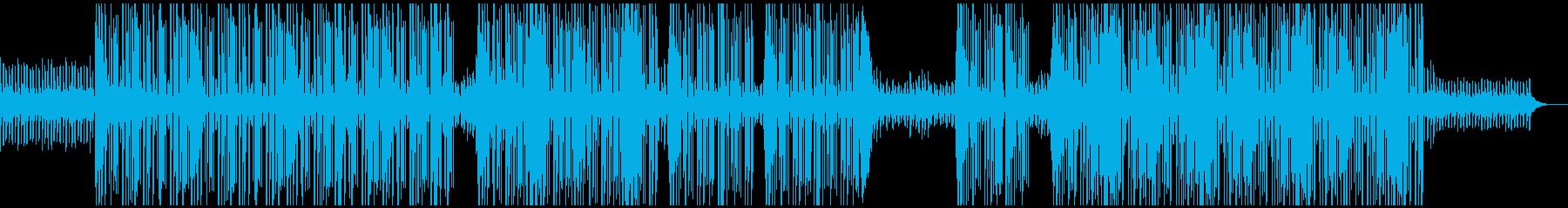 シリアスな洋楽トラップビートの再生済みの波形