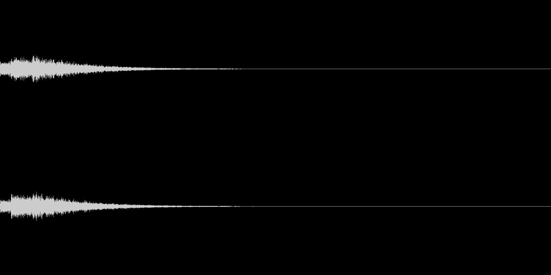 ベルの操作音の未再生の波形