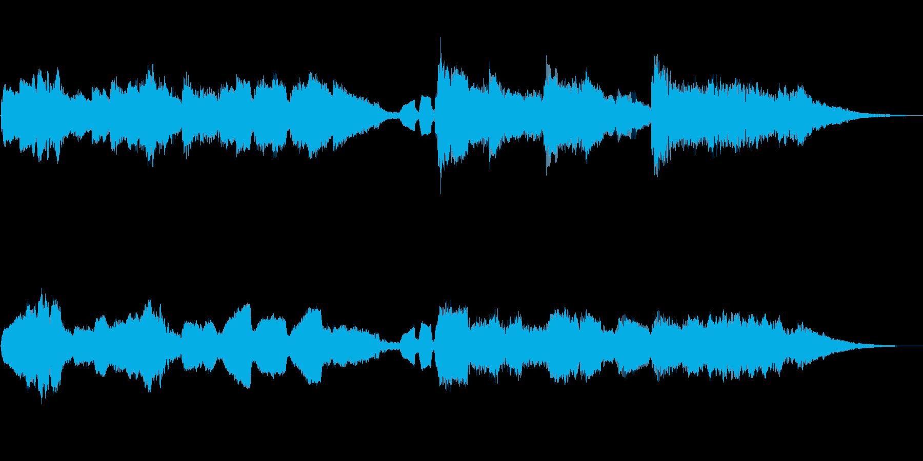 和風ジングル/篠笛とピアノ 綺麗で切ないの再生済みの波形