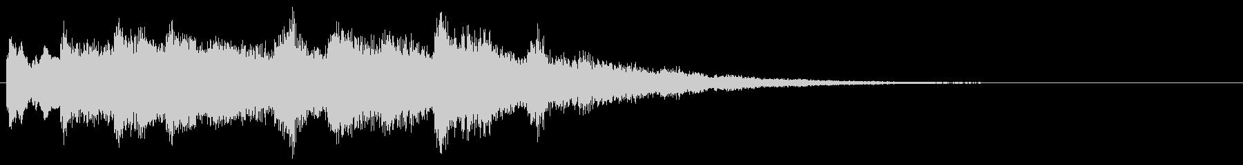 ベル系の転回音 優しい音 サウンドロゴの未再生の波形