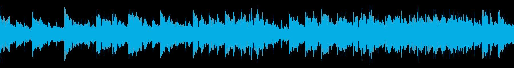 和風のジングル(ループ仕様)の再生済みの波形