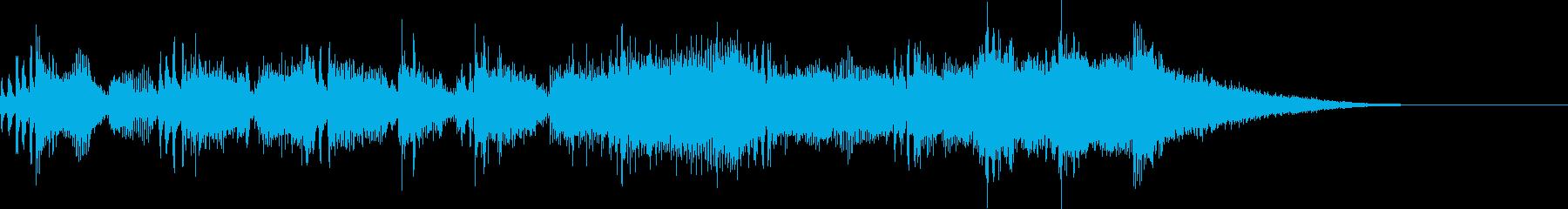 元気で明るいファンファーレの再生済みの波形