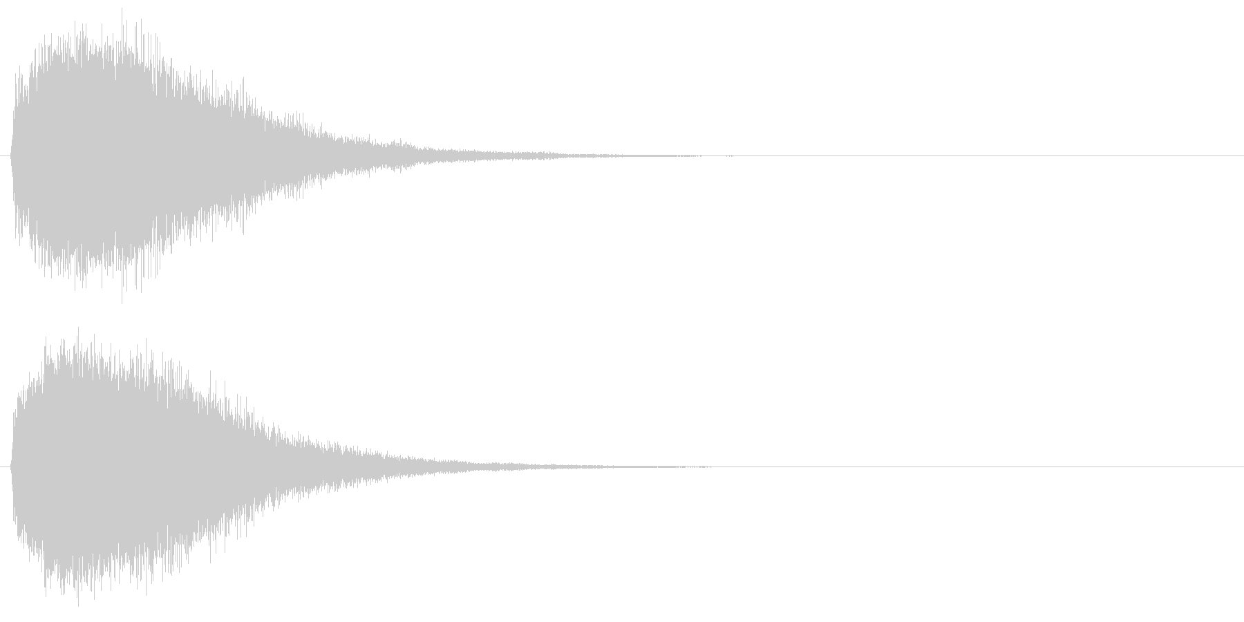 魔法・ポジティブ系キラキラ2の未再生の波形