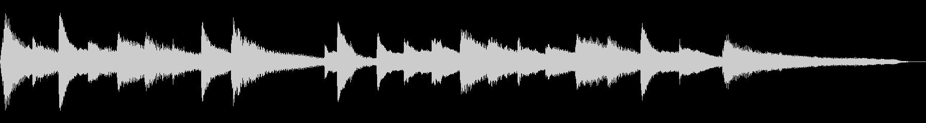 15秒のしっとり和風ジングル19-ピアノの未再生の波形