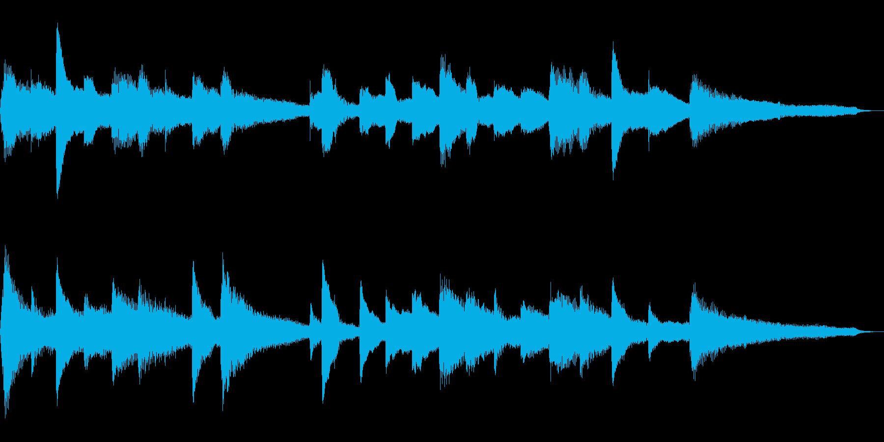 15秒のしっとり和風ジングル19-ピアノの再生済みの波形