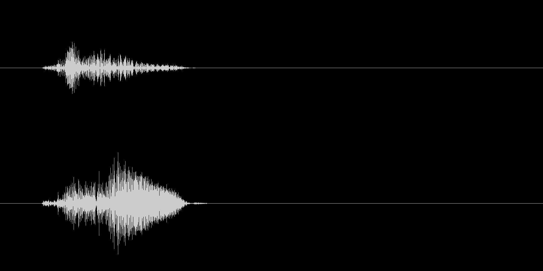 ピュッ(鳥の鳴き声の様な効果音)の未再生の波形