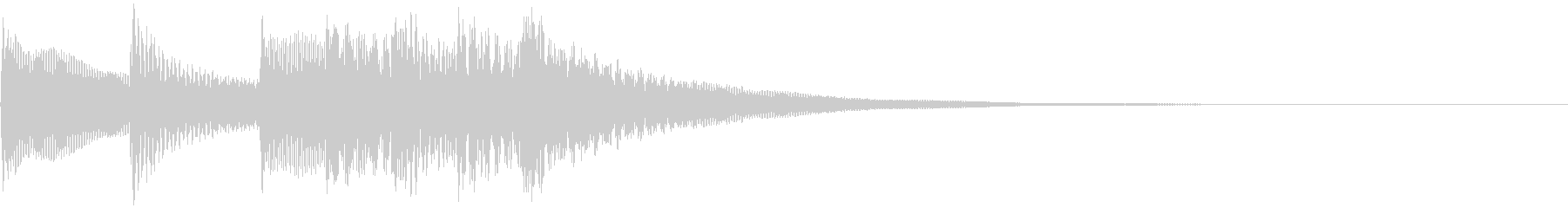 不愉快な効果音の未再生の波形
