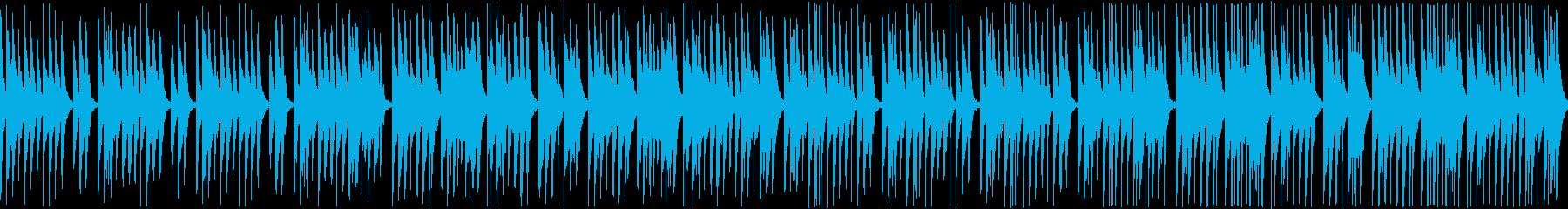 かわいい感じで日常会話シーンに合うBGMの再生済みの波形
