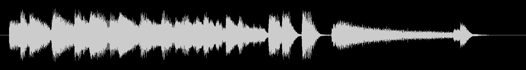 オシャレなジャズピアノジングル7の未再生の波形