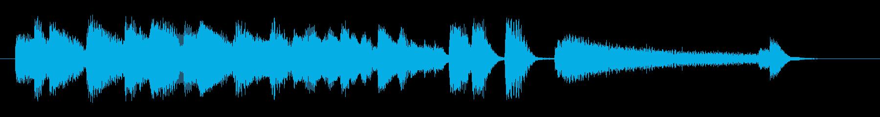 オシャレなジャズピアノジングル7の再生済みの波形