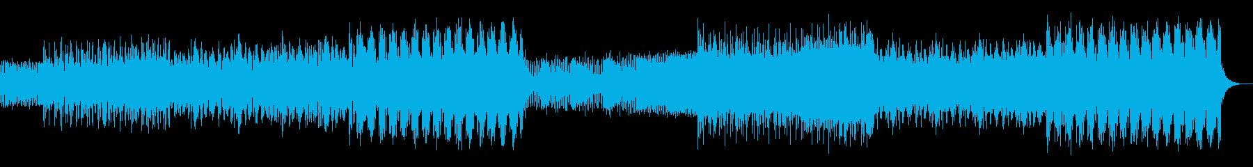 シンプルなアルペジオのテクノ01の再生済みの波形