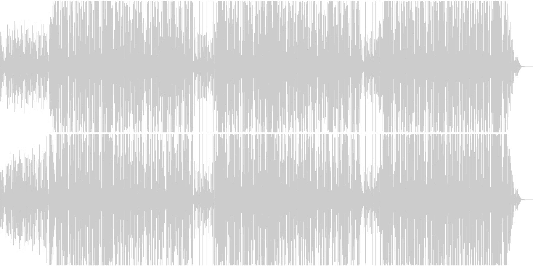アゲアゲ Dirty South ビートの未再生の波形