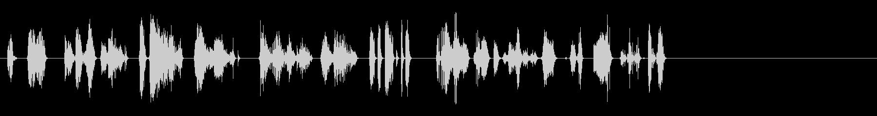 さまざまなラピッドストレッチスキーキー。の未再生の波形