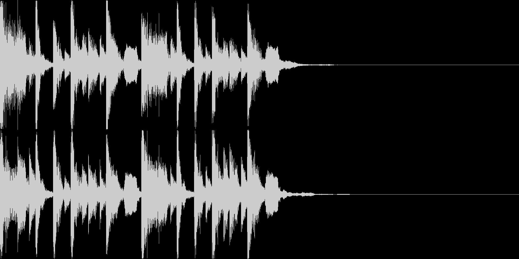 ボーカルチョップのEDMジングルの未再生の波形