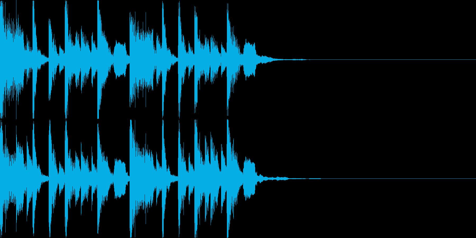 ボーカルチョップのEDMジングルの再生済みの波形