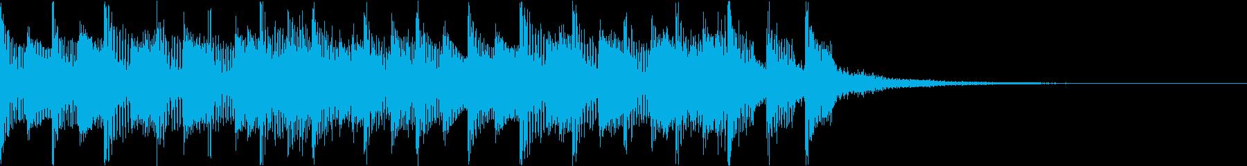 マリンバを使った明るいジングルの再生済みの波形