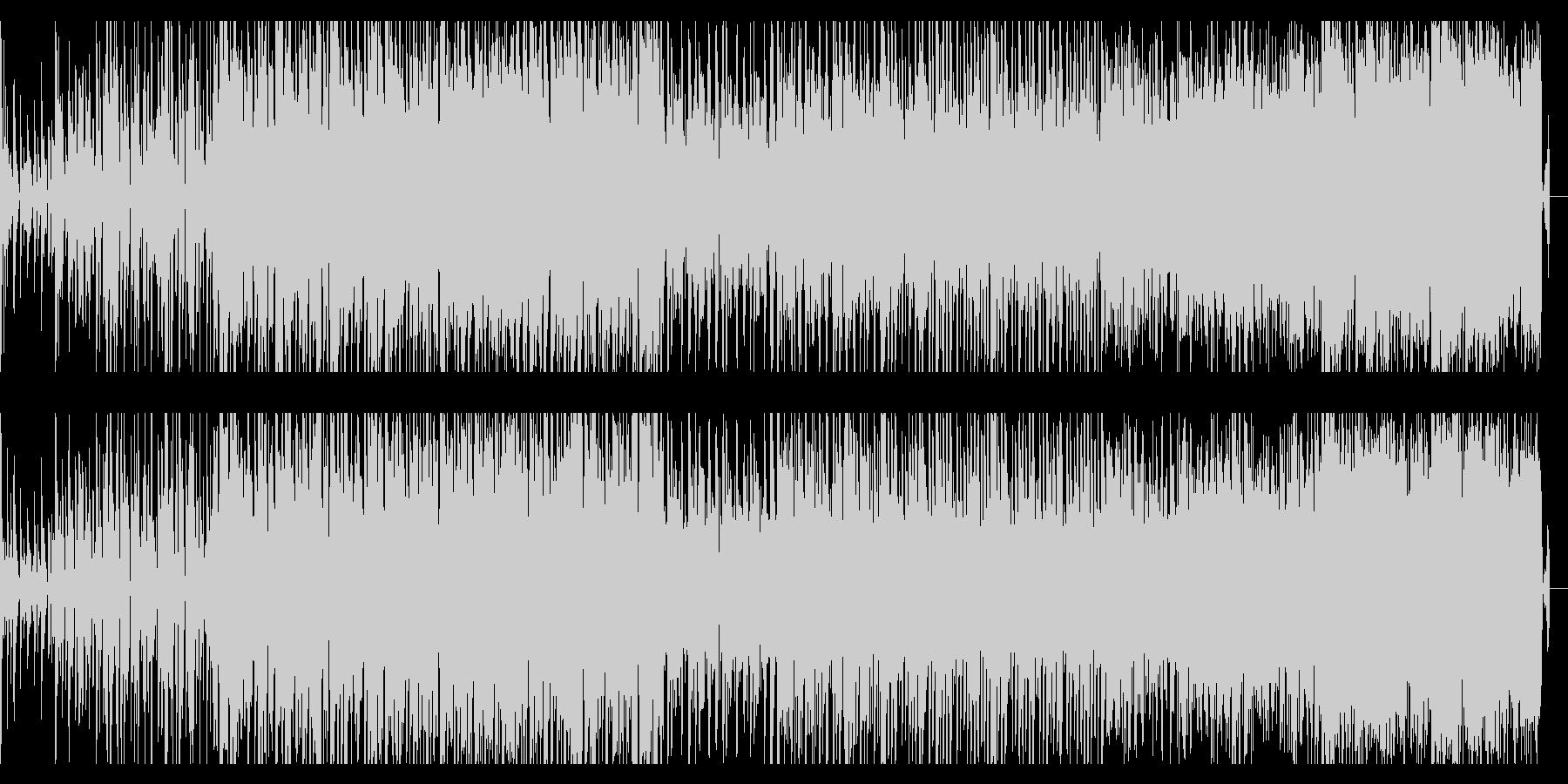 重々しく、シネマティックなBGMの未再生の波形