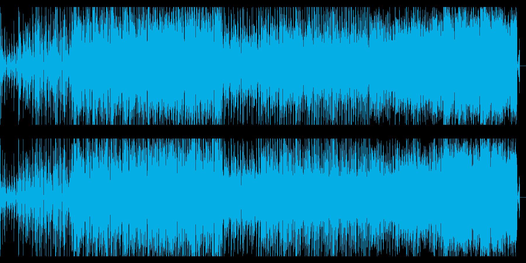 重々しく、シネマティックなBGMの再生済みの波形