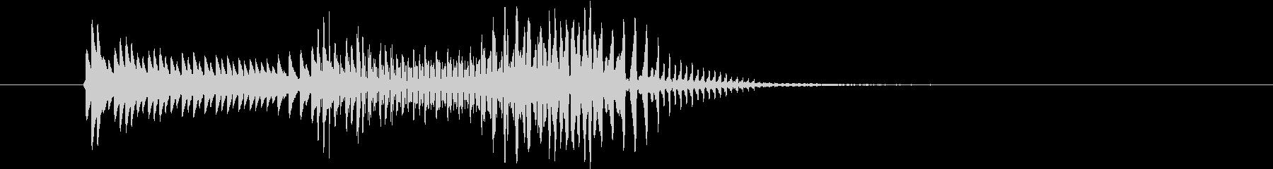 パーカッション 口ハープ14の未再生の波形