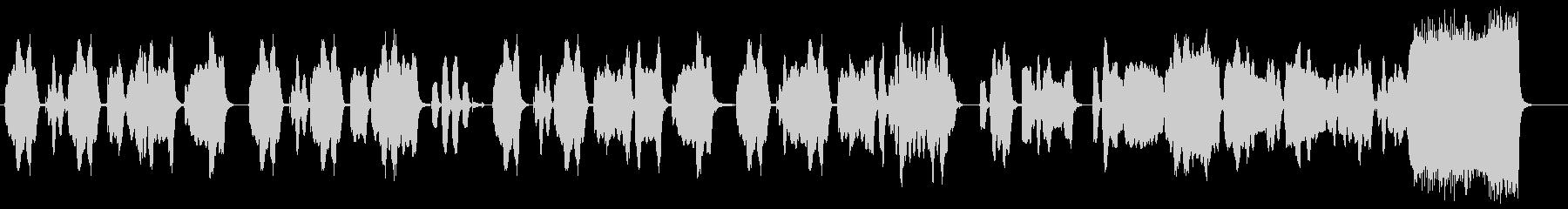 間のぬけたコミカルな木管四重奏の未再生の波形