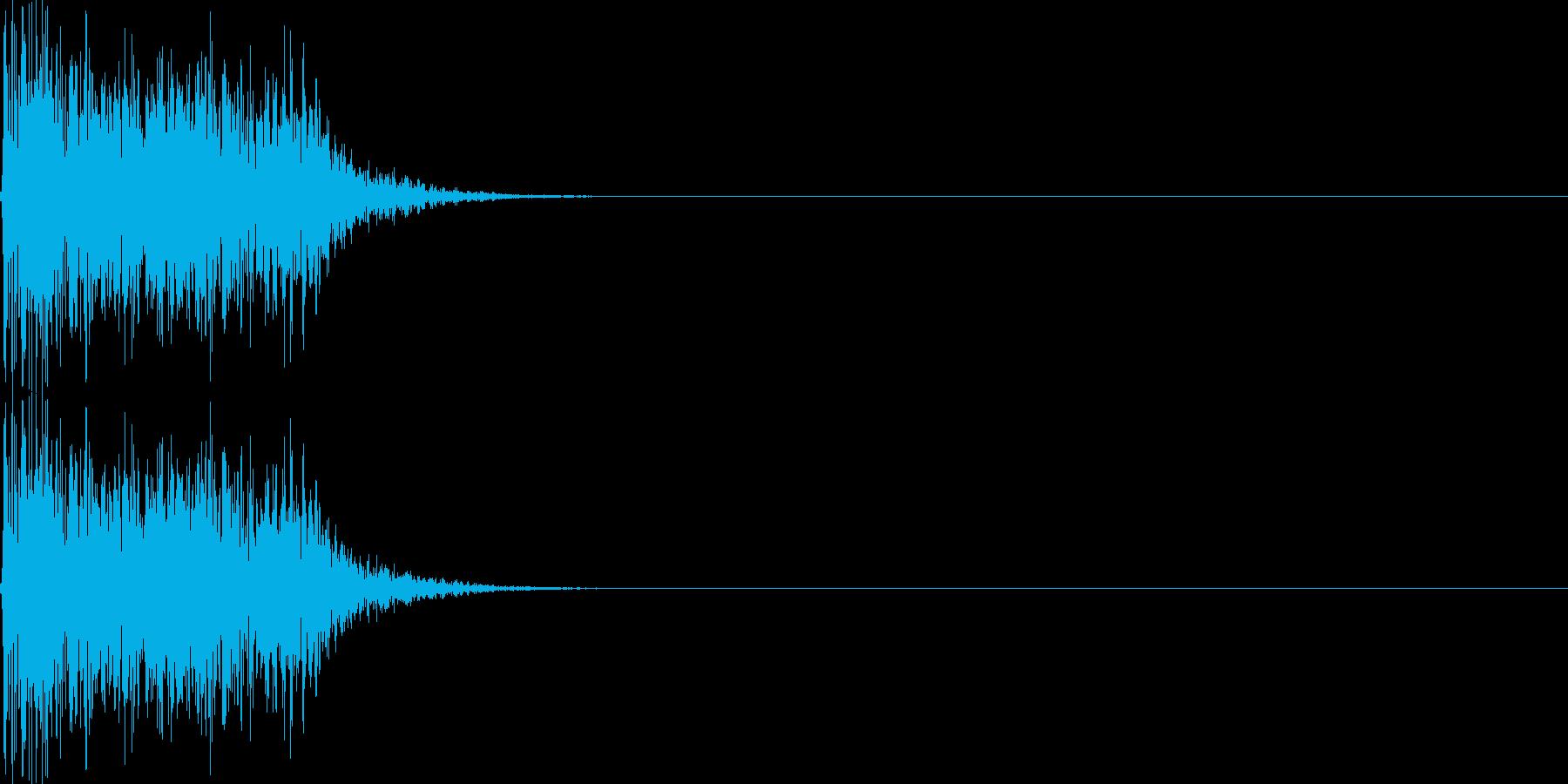 呪文02の再生済みの波形