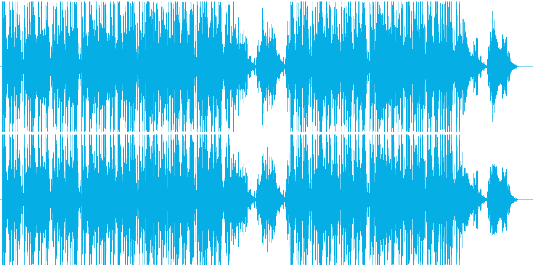 ジャジーなヒップホップの再生済みの波形