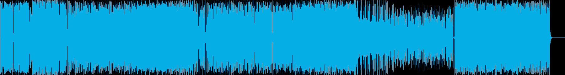 ロックな感じの明るいインスト曲の再生済みの波形