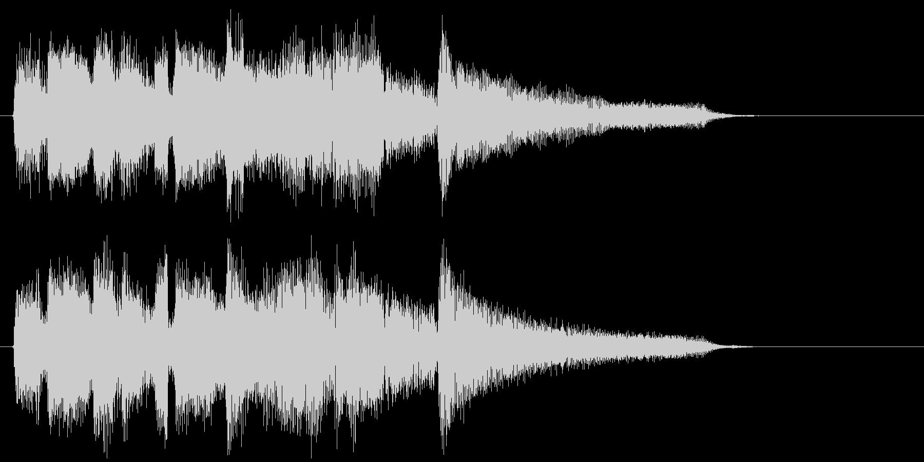 爽やかなフレッシュ系ボサノバのジングルの未再生の波形