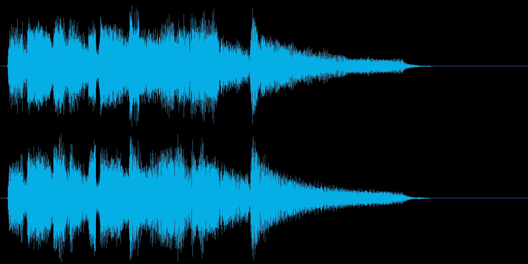 爽やかなフレッシュ系ボサノバのジングルの再生済みの波形