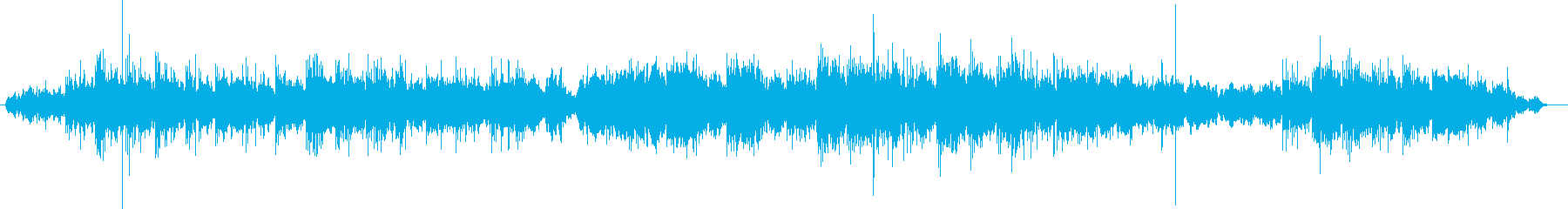 Mysterious slow tempo BGM's reproduced waveform