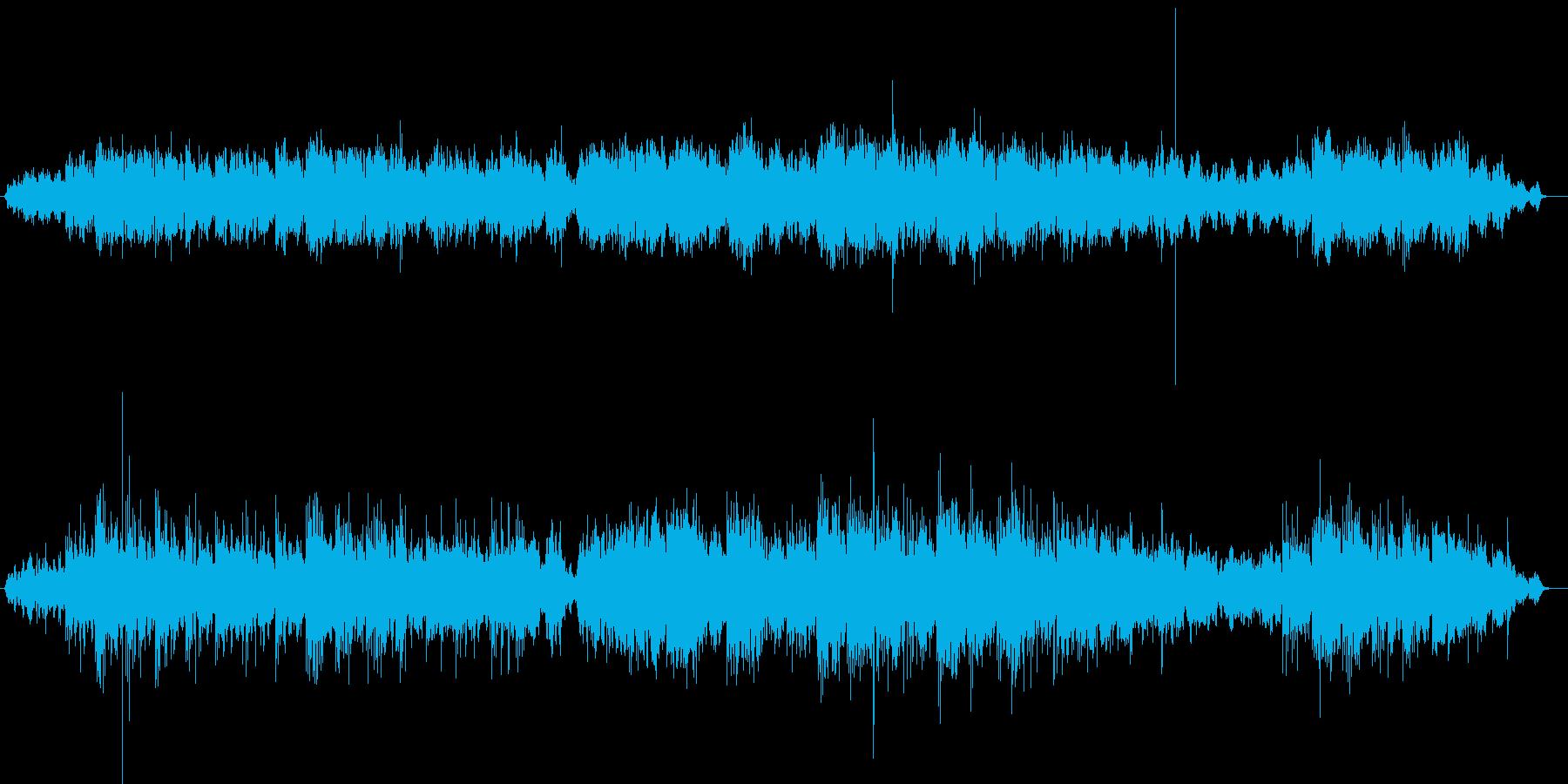 神秘的なスローテンポBGMの再生済みの波形